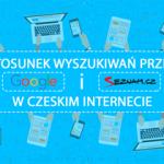 Stosunek wyszukiwań przez Google i Seznam w czeskim internecie